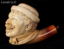 A Meerschaum Pipe, Laughing Man with Bowler Hat