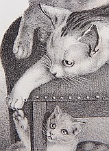 A Bound Collection of 12 Lithographs of Cats by Giles