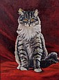 Portrait of a Cat, 20th Century, Oil on Artist Board