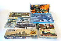 A group of scale modelling kits including an
