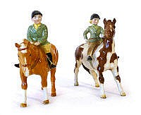 A Beswick model of a girl on a pony, second