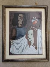 1970 Miron Sima The Bride 48/75 Ltd Ed Woodcut