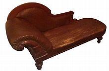 William IV Style Mahogany Chaise Lounge