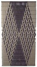 """Peter Collingwood (British, 1922-2008), """"Macrogauze"""", linen yarn with stainless steel rods, 1974, signed"""