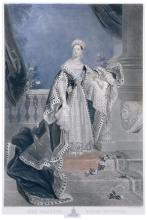 Henry S. Sadd (1810-1893) after A. Chalon (1780-1860), 'Her Majesty Queen Victoria in Coronation Robes'