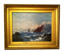 American School, Early 20th Century, Seascape, Oil on Canvas