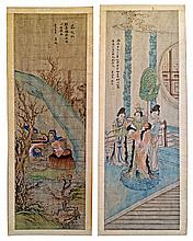 Two Chinese Paintings of Historical Figures