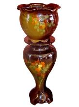 American Art Pottery Jardiniere and Matching Pedestal