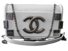 Chanel White Lambskin