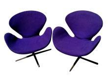 Pair of Arne Jacobsen Swan Chairs