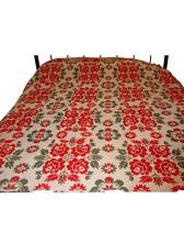 American Double-Sided Wide Loom Jacquard Coverlet