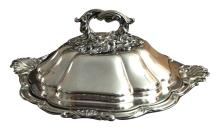 Victorian Silver Serving Dish and Cover, Paul Storr