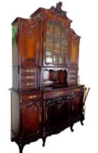 Louis XV Style Walnut Buffet a Deux Corps