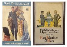 Two Hart Schaffner and Marx Advertising Posters