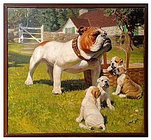 Tom Lovell, Bulldog and Puppies