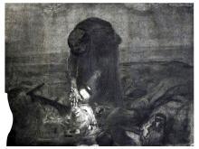 Kathe Kollwitz (German, 1867-1945), Schlachtfeld, 1907, printed 1921