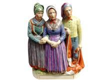 Royal Copenhagen Porcelain Figural Group, Sonderjylland by Carl Martin-Hansen (1877-1941), 20th century