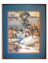 William Garnet Hazard (Canadian, 1903-1987) Snowy Landscape, watercolor