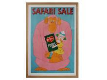 """Lowell Herrero (American, b. 1921) """"Delmonte Safari Sale"""", Advertising Poster, circa 1960s"""