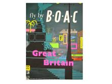 British Airways Travel Poster, Great Britain, Mid-20th Century