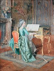 Bernard-Louis BORIONE (1865-?) La femme au