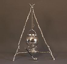 An Unusual Late Victorian Silver Plated Brandy
