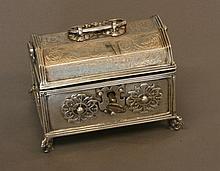 A Scandinavian Early 18th Century Silver Casket.
