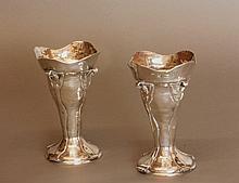 A Pair of Edwardian Art Nouveau Vases. D & M Davis