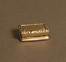 A George IV Vinaigrette. Joseph Wilmore,