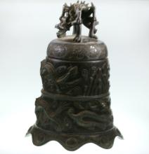 Oriental Antique Bronze Temple Bell. 19th century or older