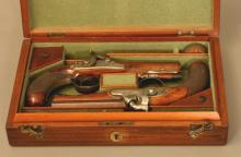 A Fine Pair of Percussion Cap Pistols by Cartmell