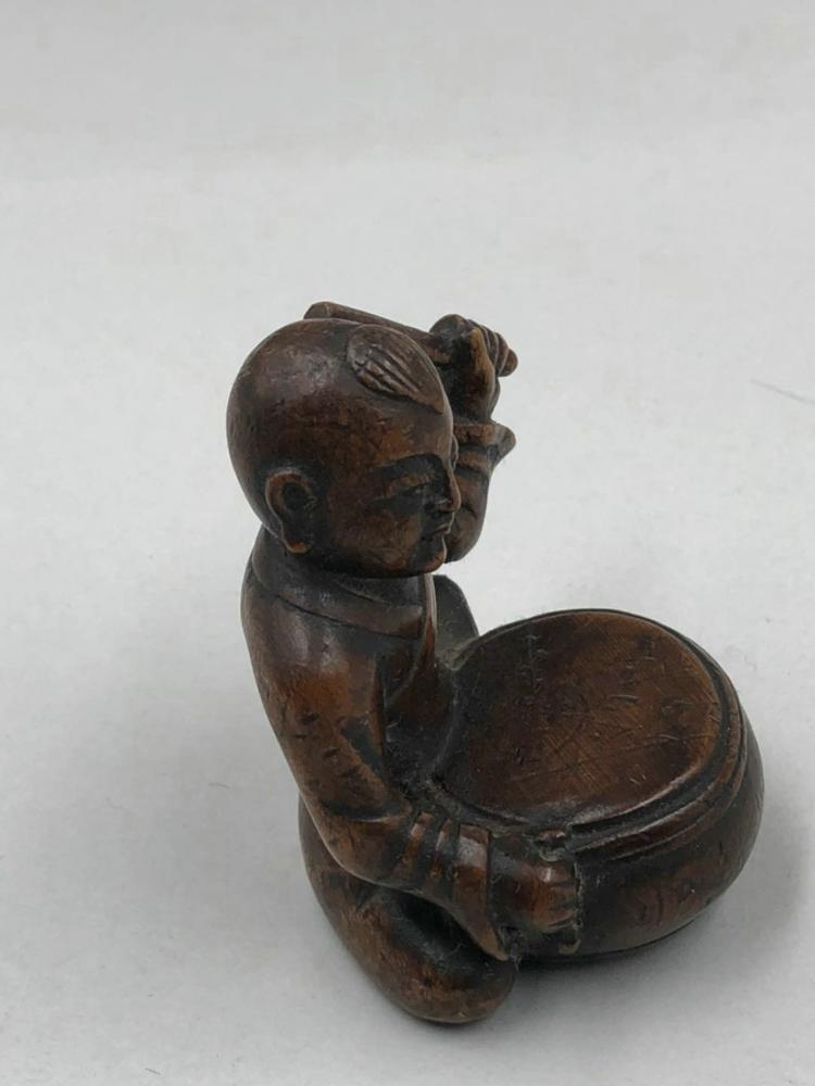 A chinese carved boxwood decoration