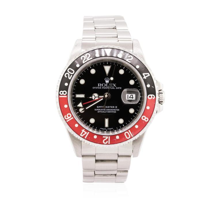 Gents Rolex Stainless Steel Date GMT-Master II Wristwatch