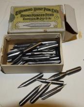 Vintage C. Howard Hunt Pen Co. Box with Nibs