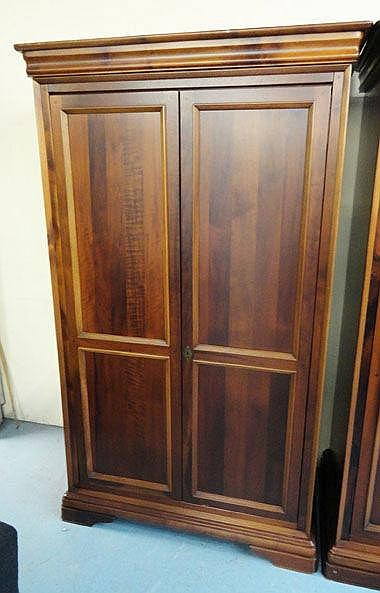 WILLIS AND GAMBIER WARDROBE, mahogany with two