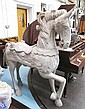HORSE, hand carved, in a distressed weathered