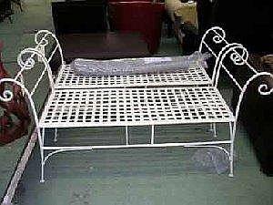 Wondrous Wrought Iron Window Benches A Pair Scroll Armed All Handm Ibusinesslaw Wood Chair Design Ideas Ibusinesslaworg