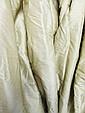 CURTAINS, a pair, in bronze silk moiree, triple