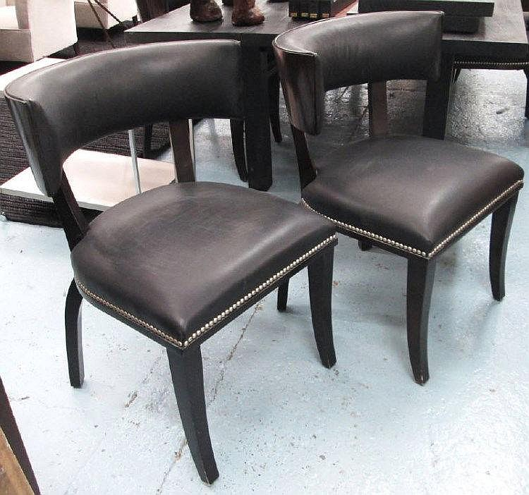 Ralph Lauren Dining Chairs A Set Of Eight With Curved Wood