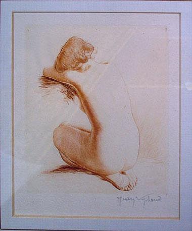 JEAN AUGUSTE VYBOUD (b.1872), 'Nude study',