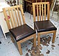 DINING CHAIRS, a set of eight, from John Lewis,