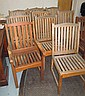 GARDEN CHAIRS, a set of ten, including two