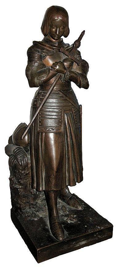 MARIE D'ORLEANS [1813-1839] STANDING BRONZE FIGURE
