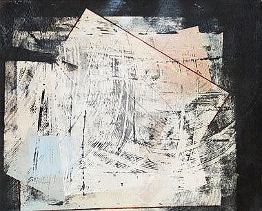 LYON OLIVER (b.1949), 'Sgraffito No3', 38cm x