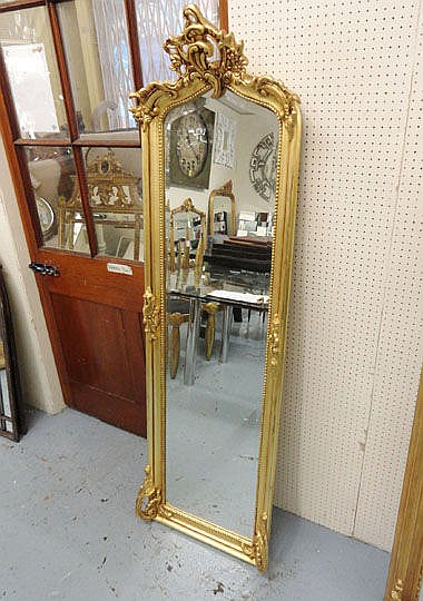 MIRROR, Louis XV style, in gilded frame, 180cm x