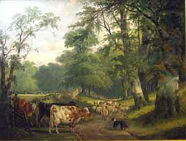 CHARLES SHAYER (fl.1870-1880), 'A Hampshire Lane -