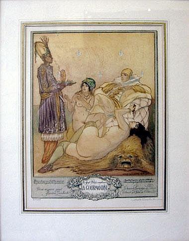 ANDRE LAMBERT (1884-1967), 'La Gourmandise',