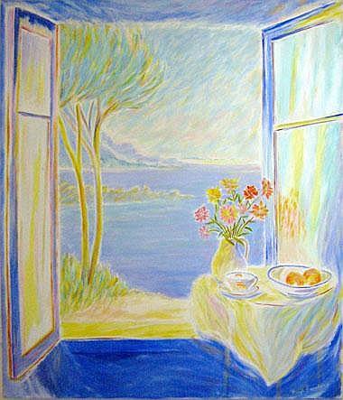 HUGH BARNDEN (b.1946), 'Window Sicily', oil on