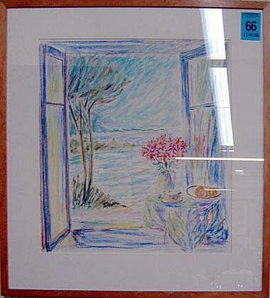 HUGH BARNDEN (b.1946), 'Sicilian window',