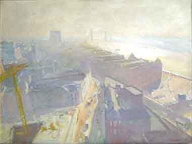 JOHN EVELEIGH (b.1926), 'View towards Tower